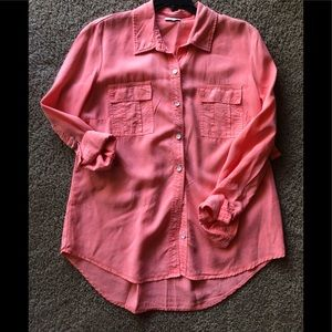 Splendid Coral Chambray Long Sleeve Size SP